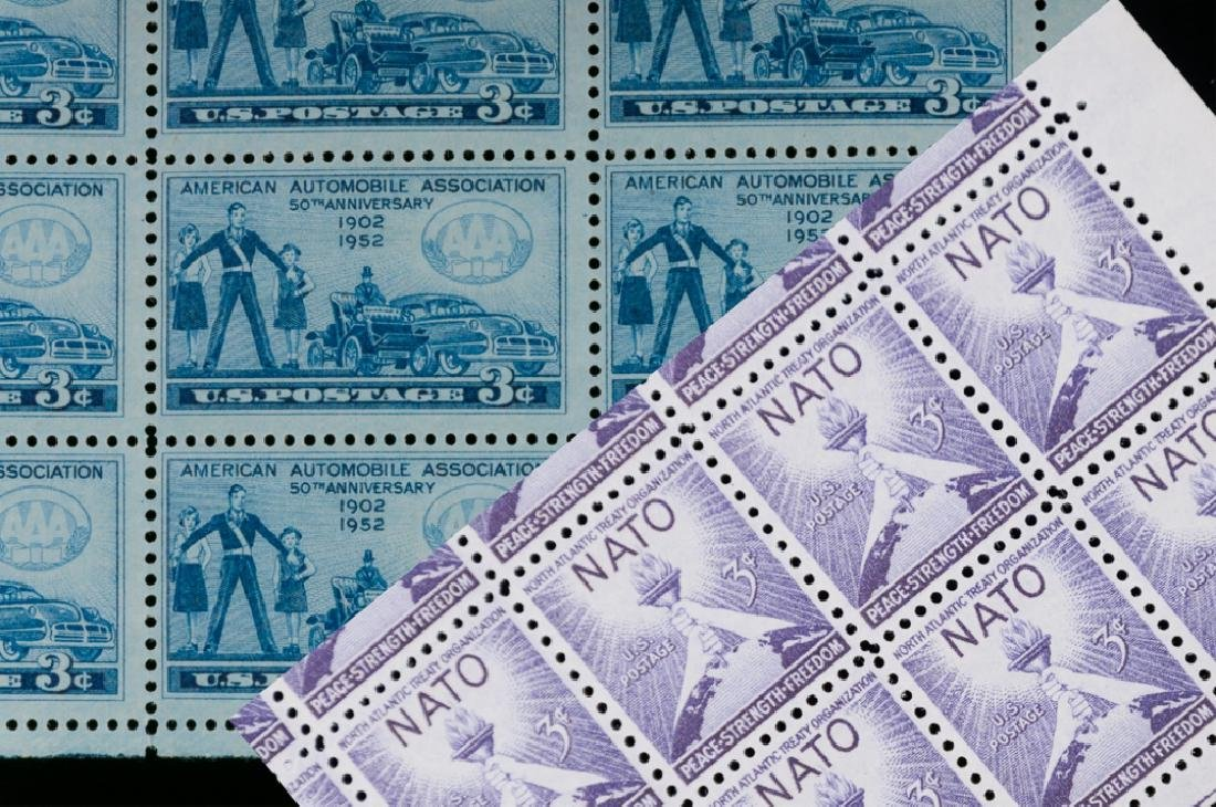 Mint Sheets of Stamps, NATO Included, 2 P.