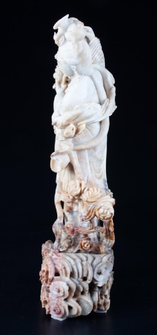 Chinese Soapstone Figure of Immortal Lan Caihe - 3