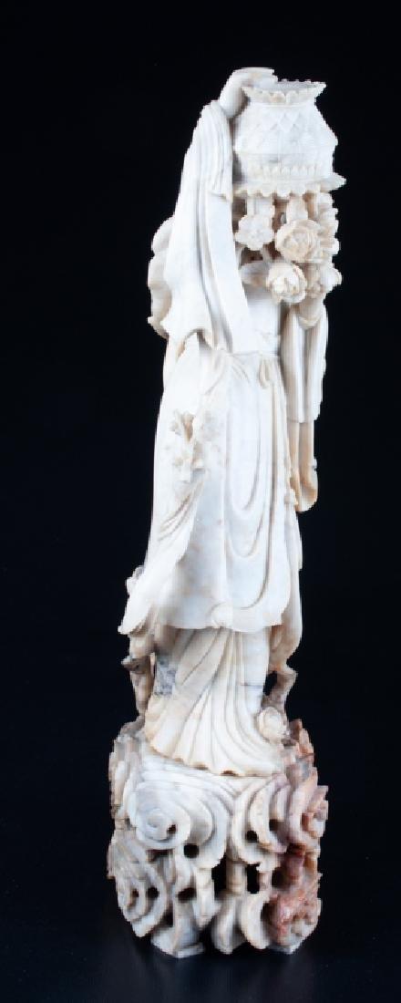 Chinese Soapstone Figure of Immortal Lan Caihe - 5