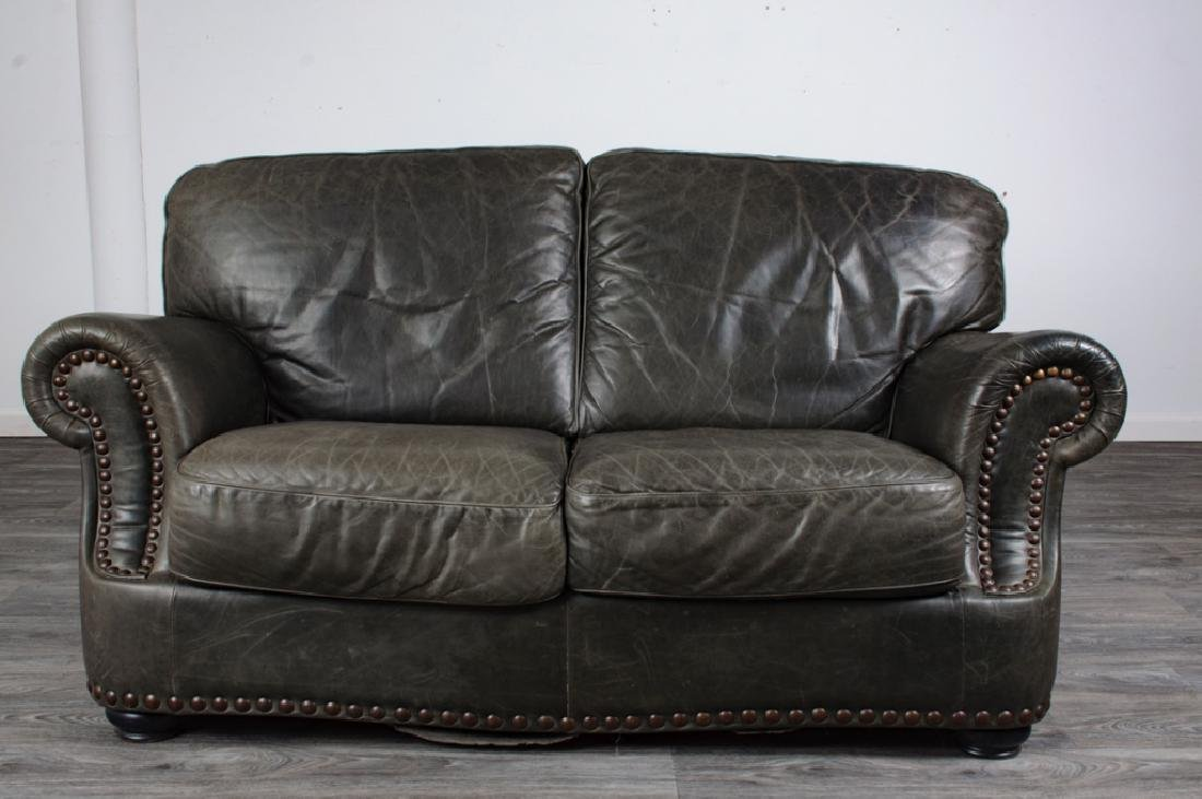 Leather Loveseat - 2