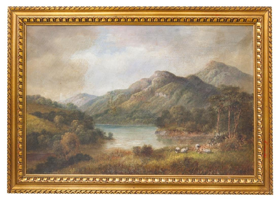 English Oil on Canvas Painting, Dated 1903