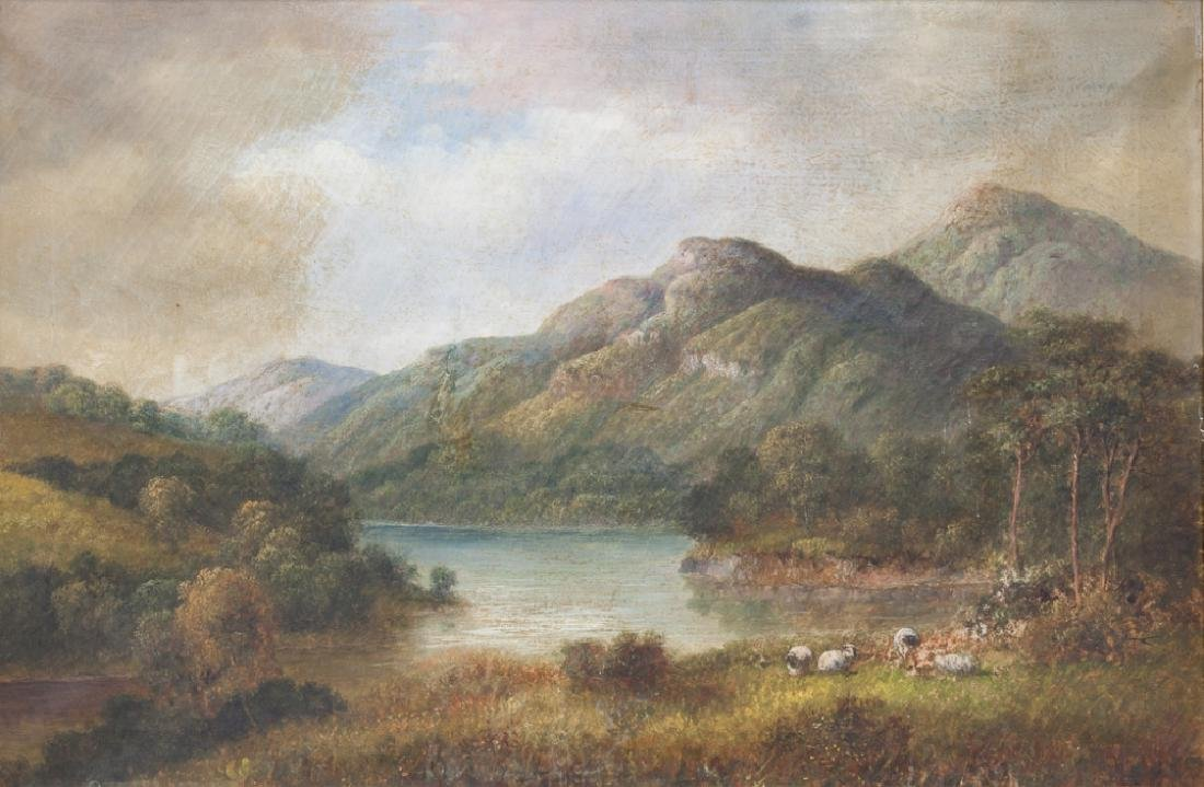 English Oil on Canvas Painting, Dated 1903 - 2