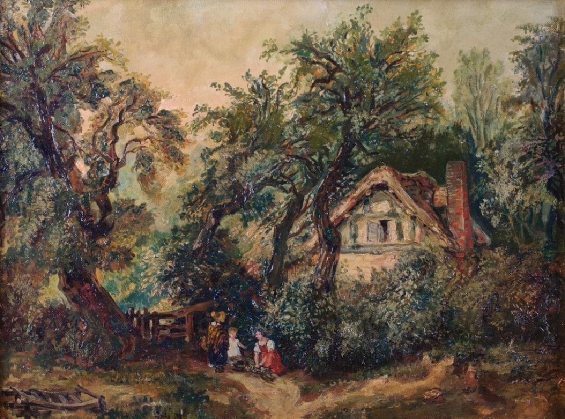 Edward C. Williams Cottage in Woods Oil on Canvas - 2