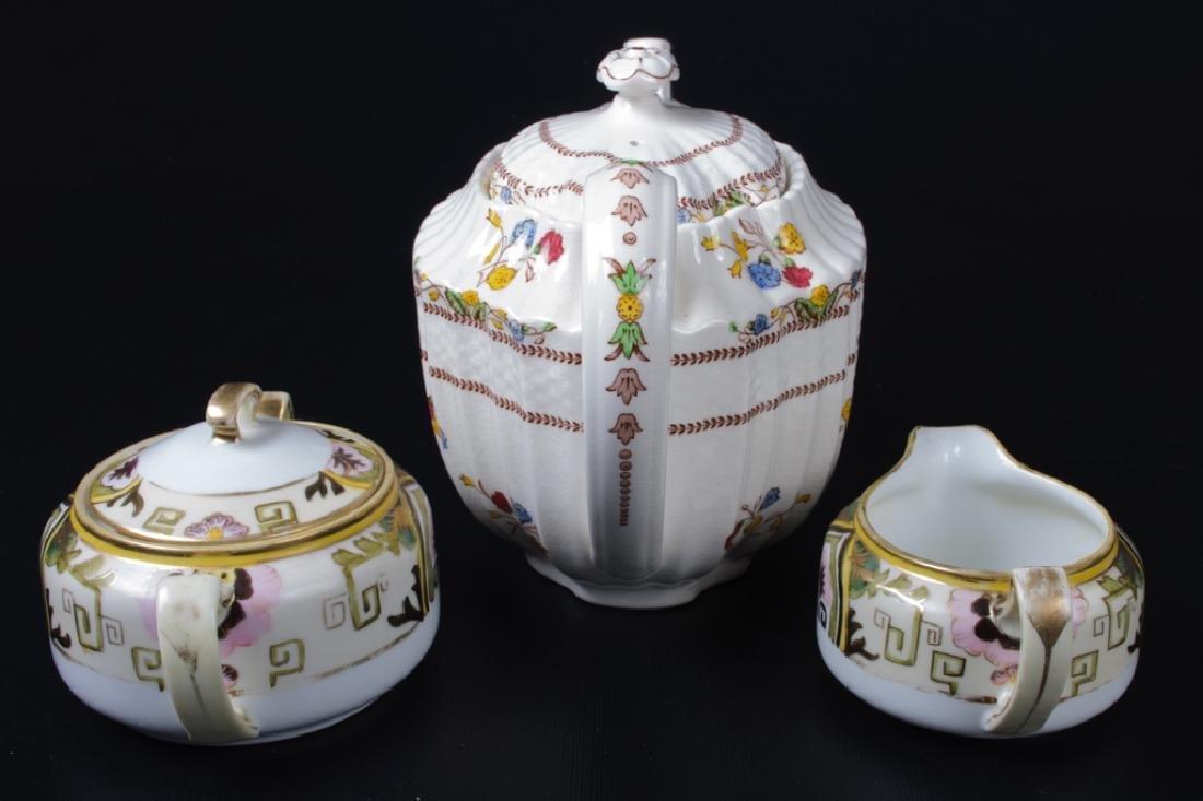 Spode & Nippon Porcelain Partial Tea Service - 3