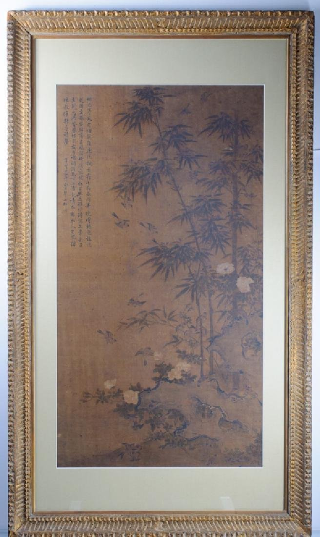 Large Asian Painting on Silk - 2