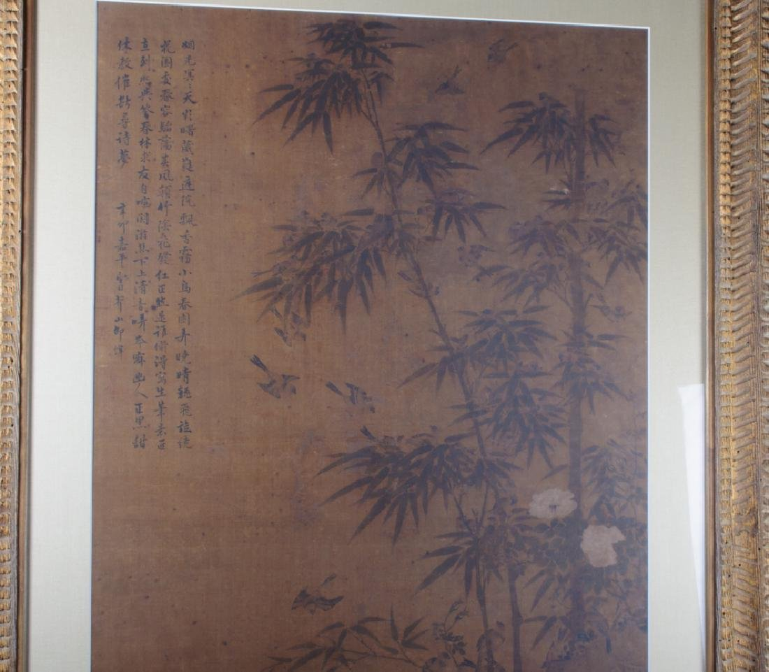 Large Asian Painting on Silk - 6