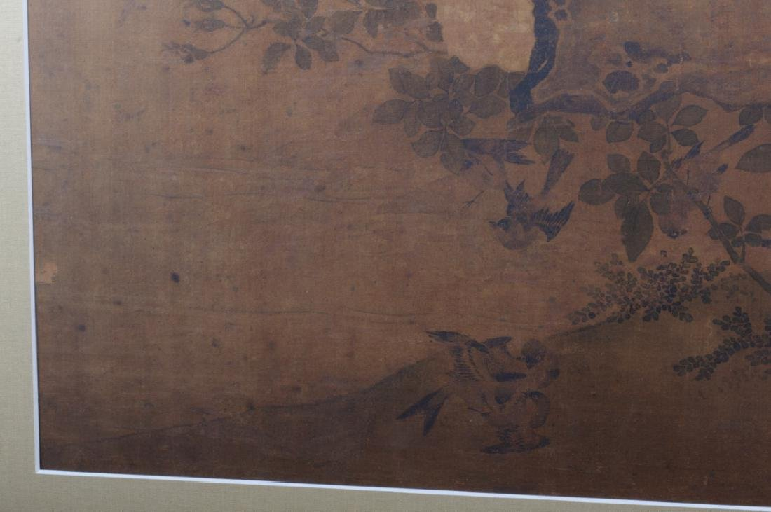 Large Asian Painting on Silk - 9