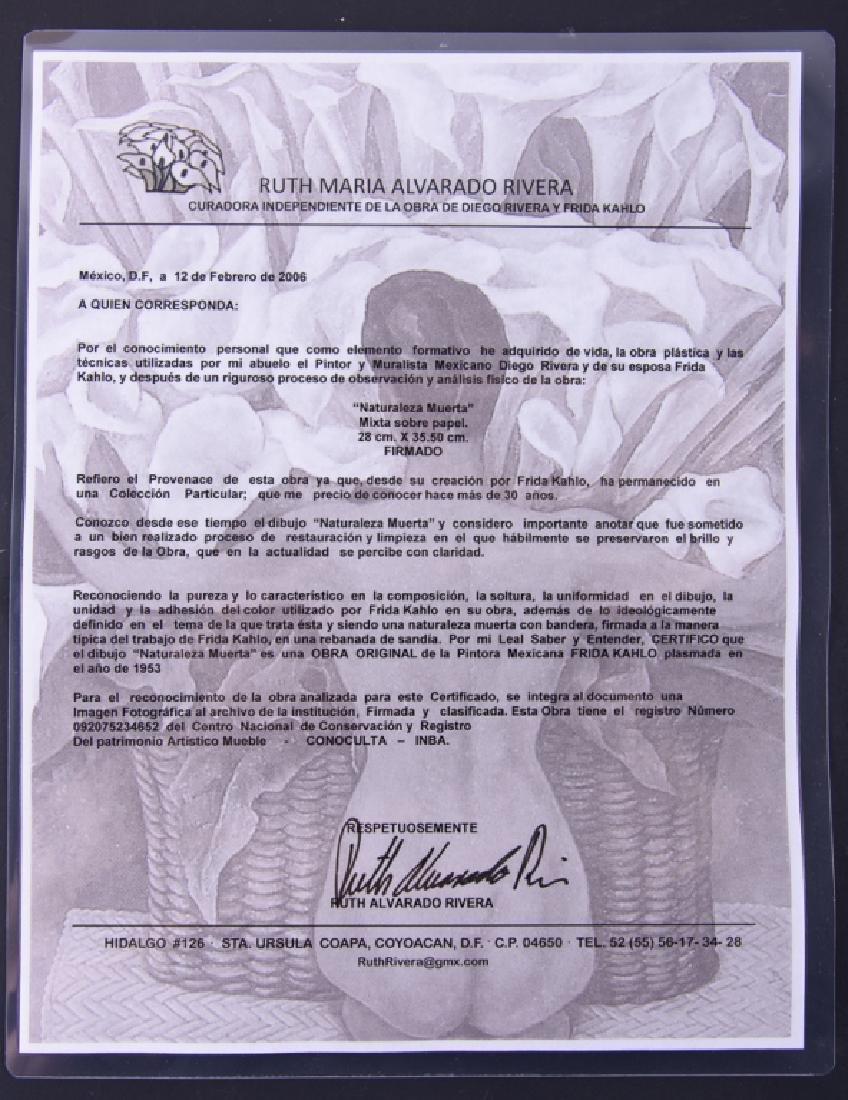 "Frida Kahlo ""Naturaleza Muerta"" Mixed Media - 4"
