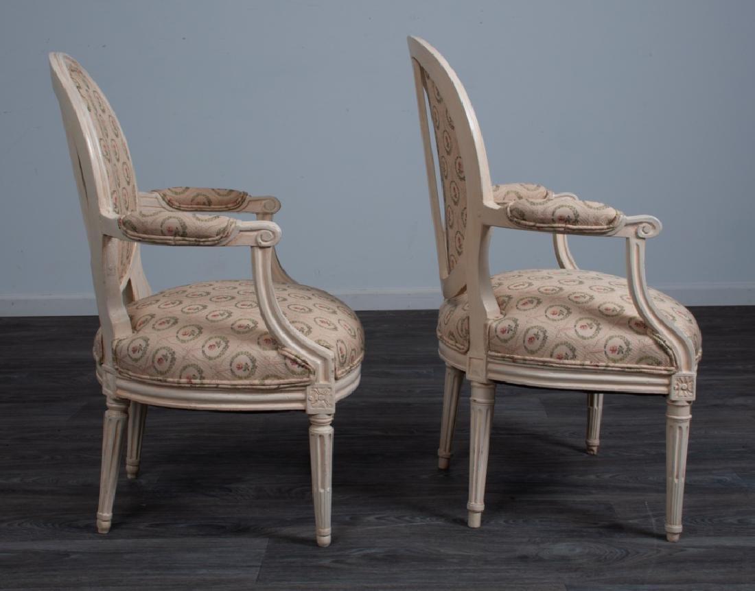 Louis XVI Style Fauteuils Pair - 6