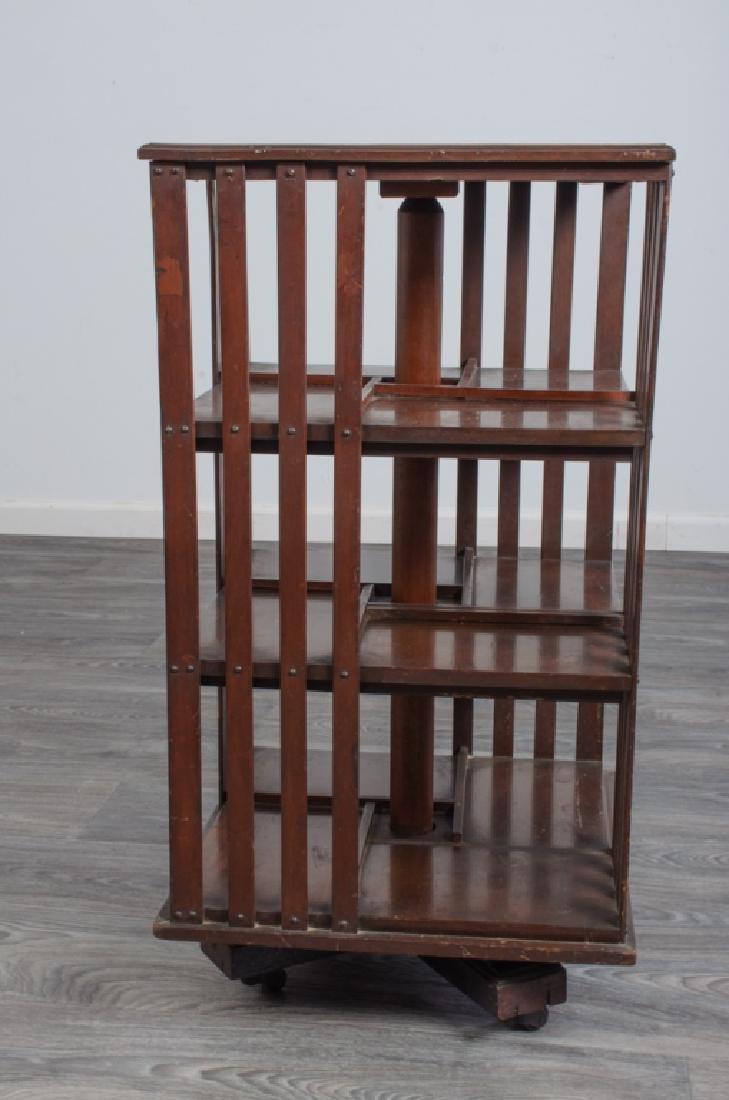 Goodyers English Mahogany Revolving Bookcase - 2