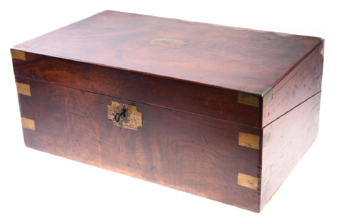 Georgian Brass Bound Mahogany Lap Desk