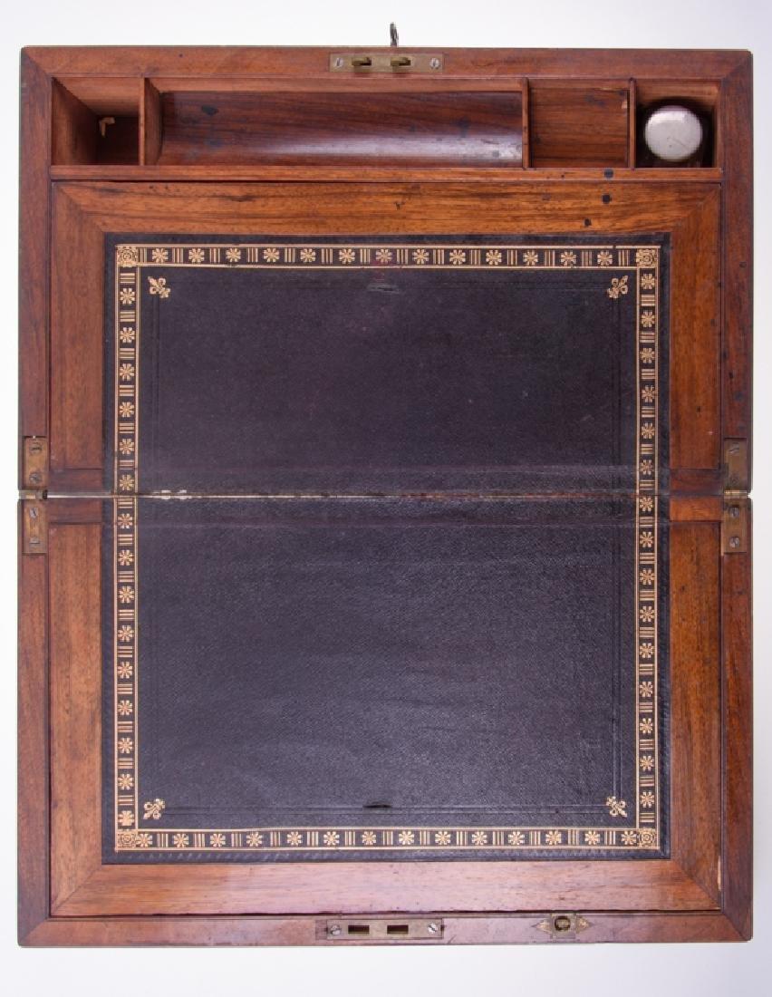 Georgian Brass Bound Mahogany Lap Desk - 2