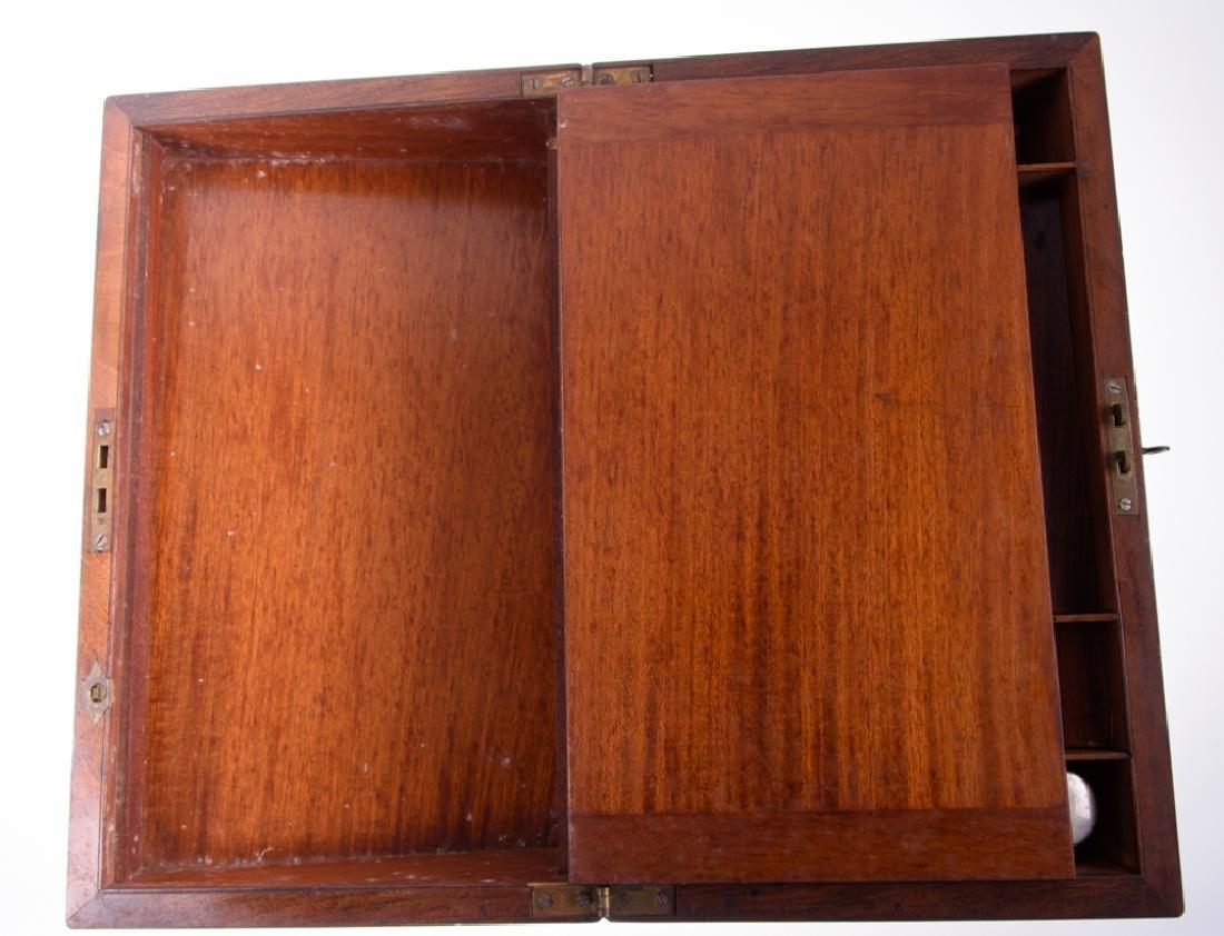 Georgian Brass Bound Mahogany Lap Desk - 5