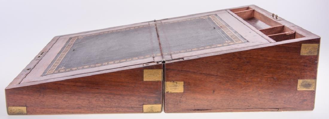 Georgian Brass Bound Mahogany Lap Desk - 7