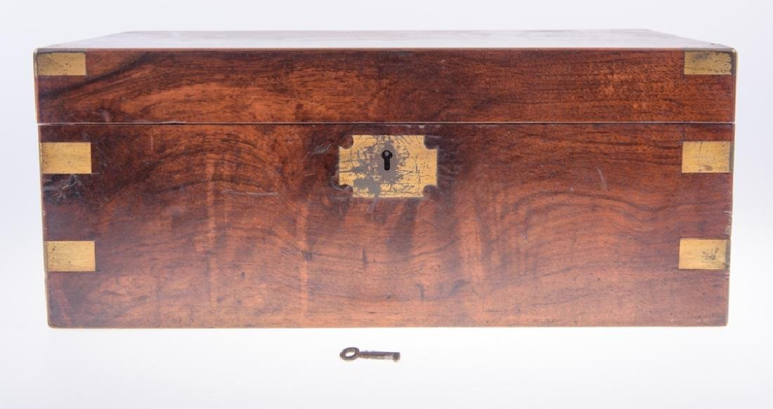 Georgian Brass Bound Mahogany Lap Desk - 8