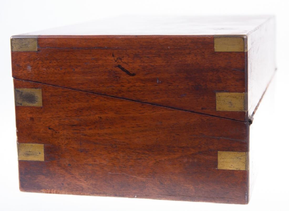 Georgian Brass Bound Mahogany Lap Desk - 9