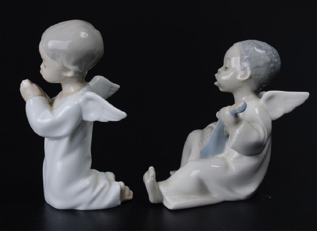 Lladro Angel Praying #4538 & Angel #4537 Figurines - 2