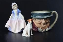 Royal Doulton Porcelain Figure Group & Toby Mug