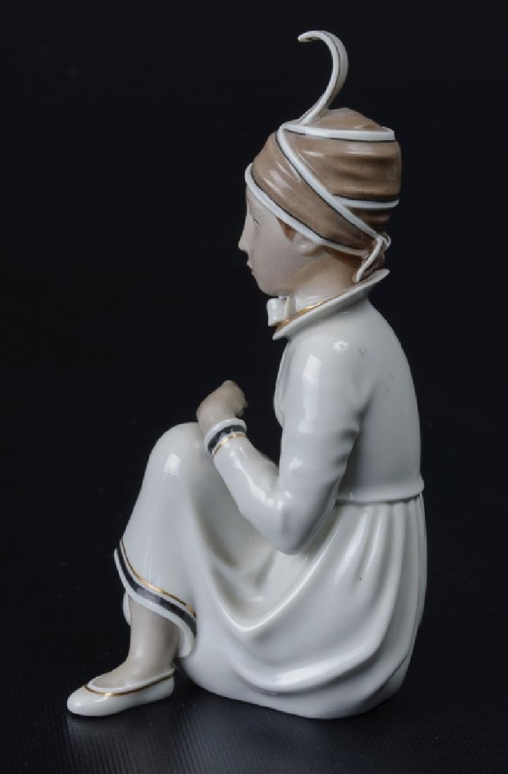 Royal Copenhagen Icelandic Girl Figurine - 3