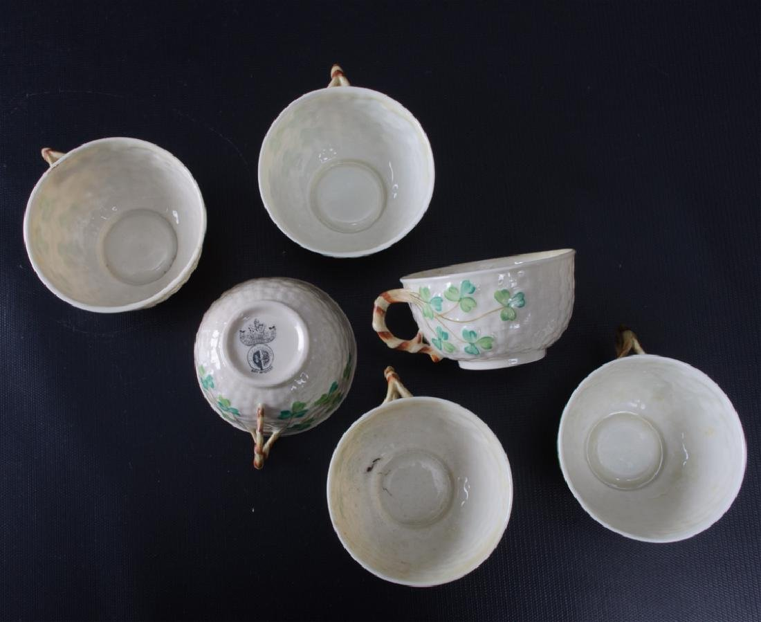 Belleek Third Period Black Mark Tea & Luncheon Set - 5