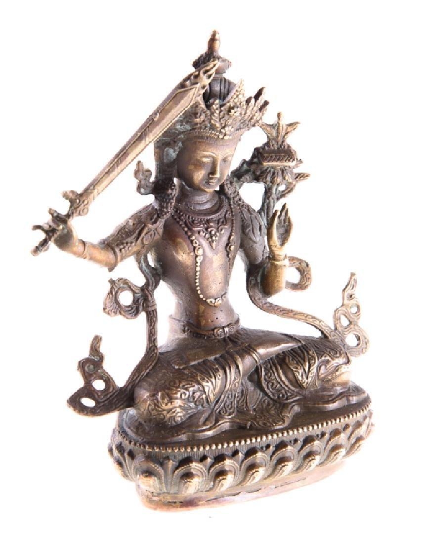 Himalayan Cast Bronze Serpent Goddess