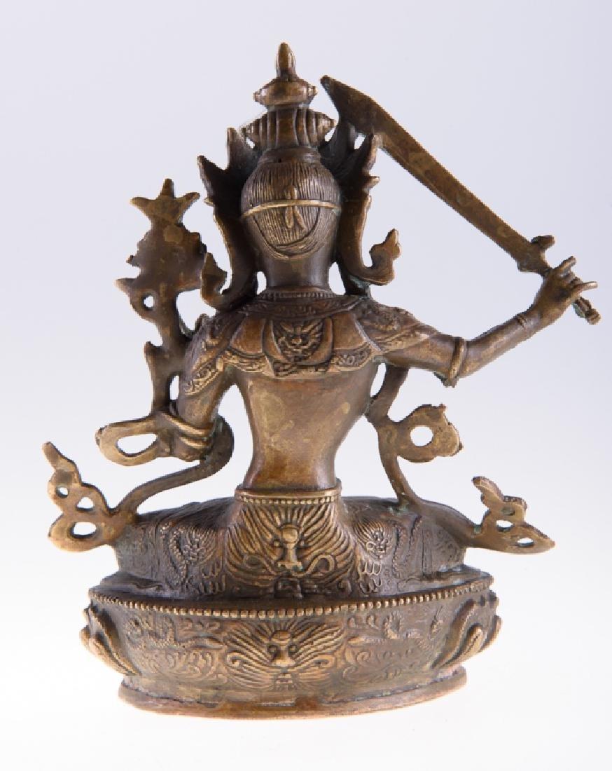 Himalayan Cast Bronze Serpent Goddess - 4