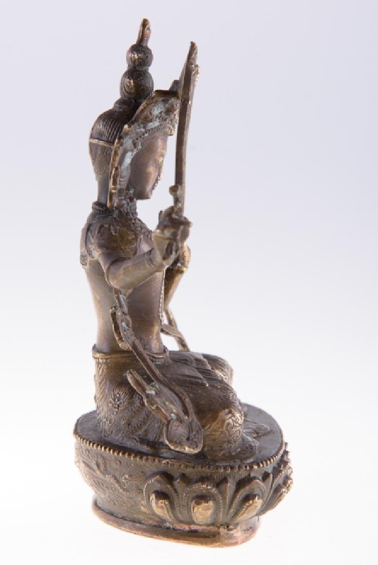 Himalayan Cast Bronze Serpent Goddess - 5