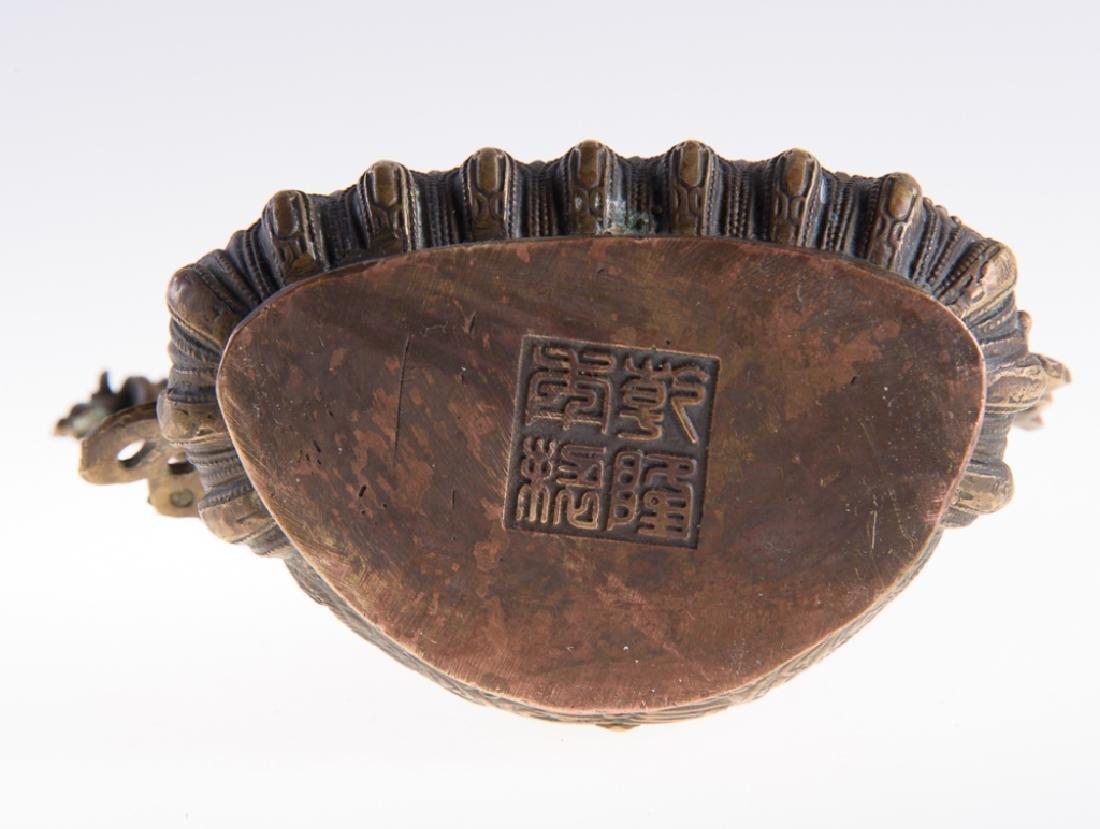 Himalayan Cast Bronze Serpent Goddess - 6