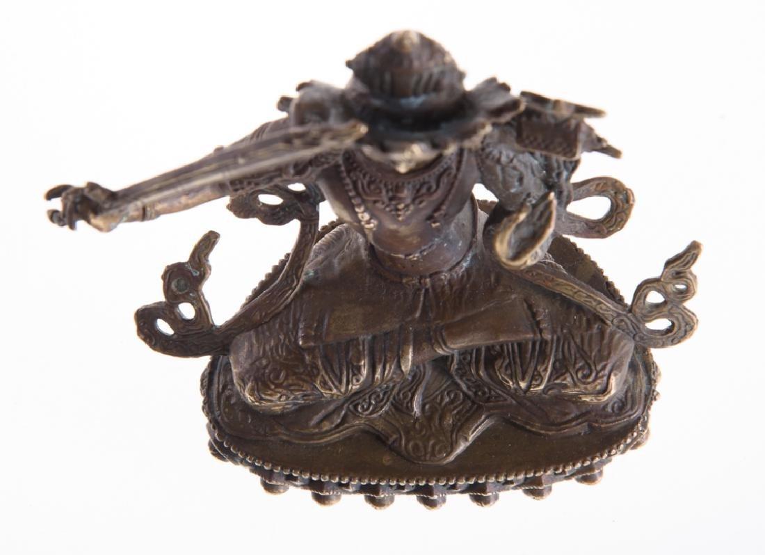 Himalayan Cast Bronze Serpent Goddess - 7