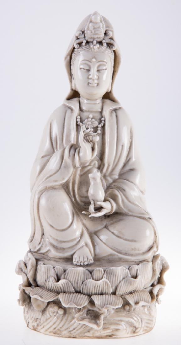 Chinese Porcelain Quan Yin - 2