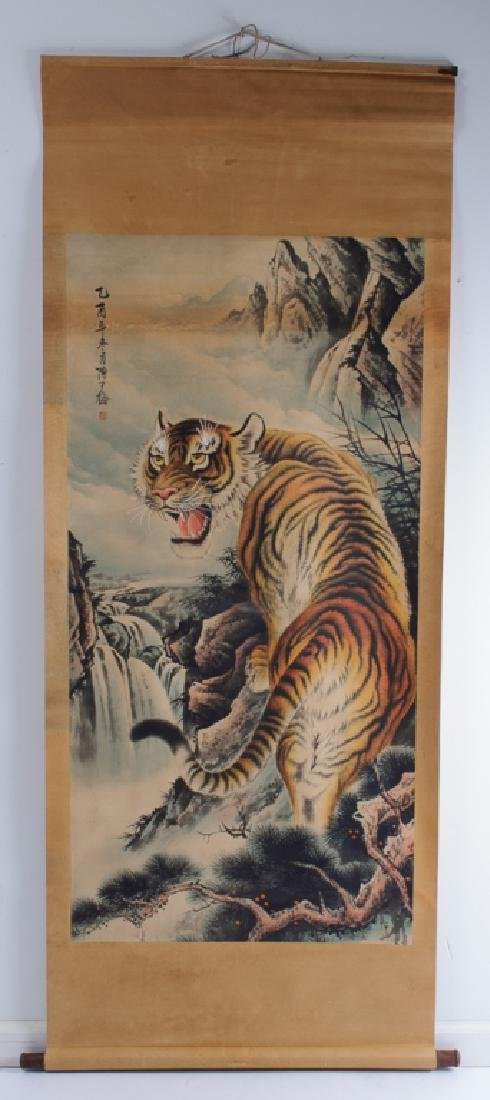 Chinese Scroll Painting of  Tiger, L 19th/E 20th C