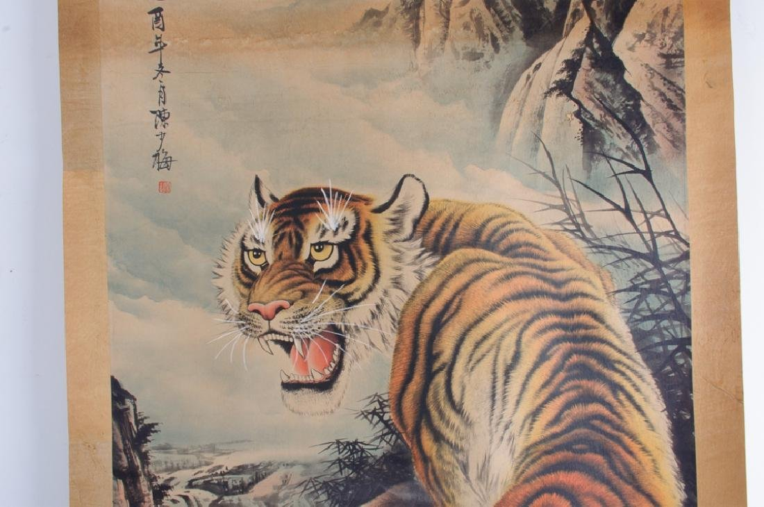 Chinese Scroll Painting of  Tiger, L 19th/E 20th C - 5