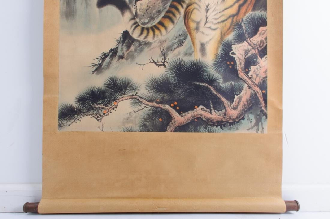 Chinese Scroll Painting of  Tiger, L 19th/E 20th C - 7