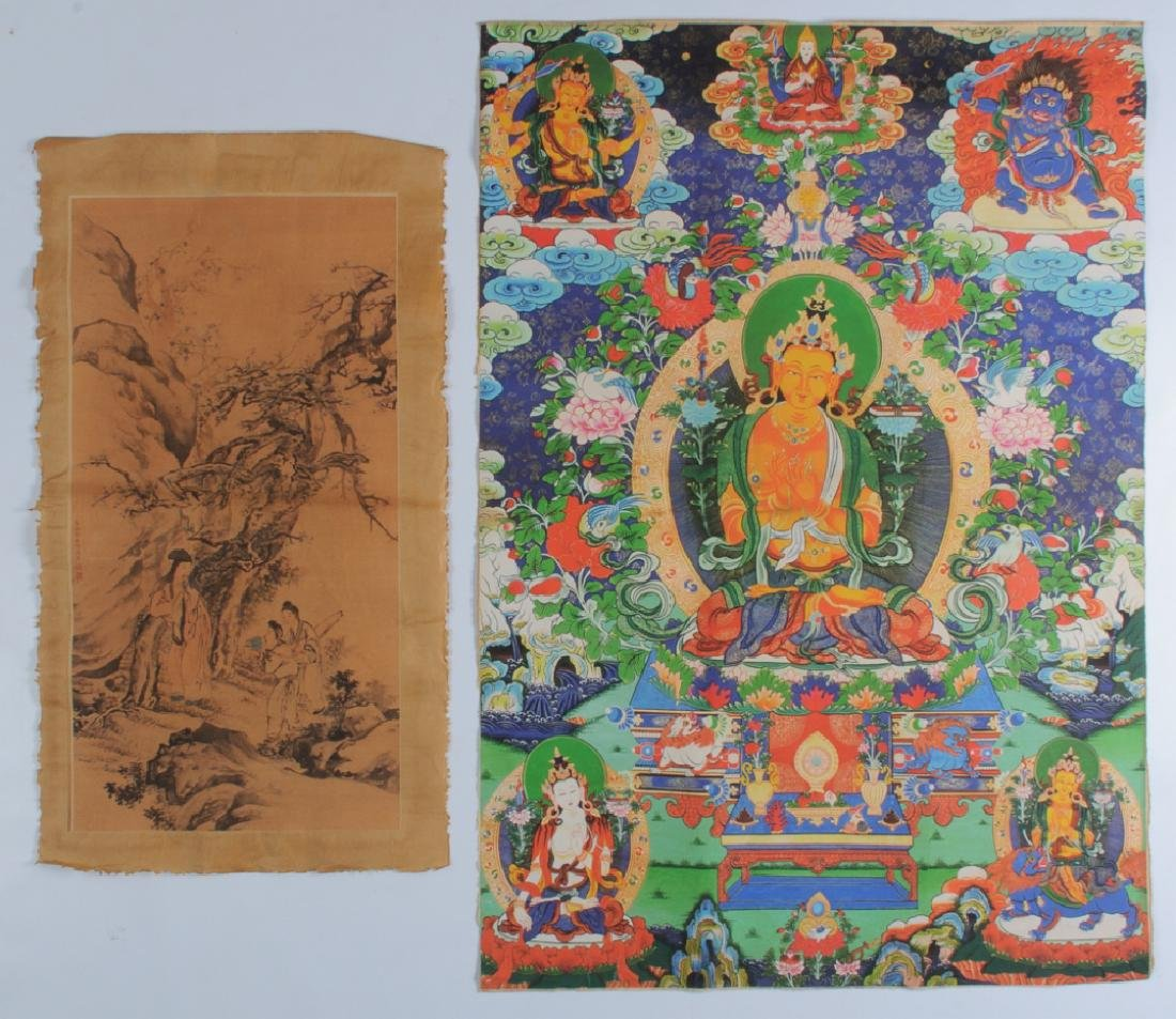 Tibetan Thangka and Scroll Painting on Silk