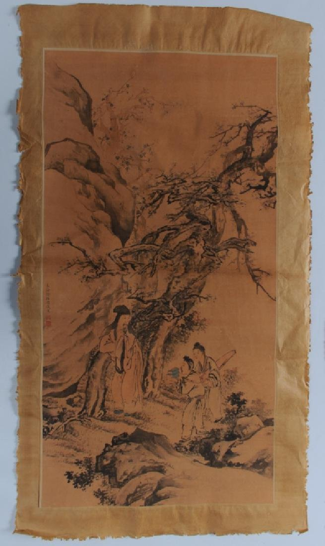 Tibetan Thangka and Scroll Painting on Silk - 2