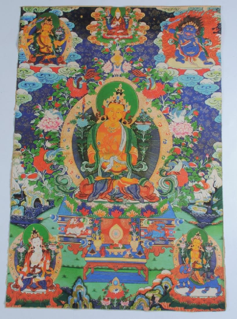 Tibetan Thangka and Scroll Painting on Silk - 5