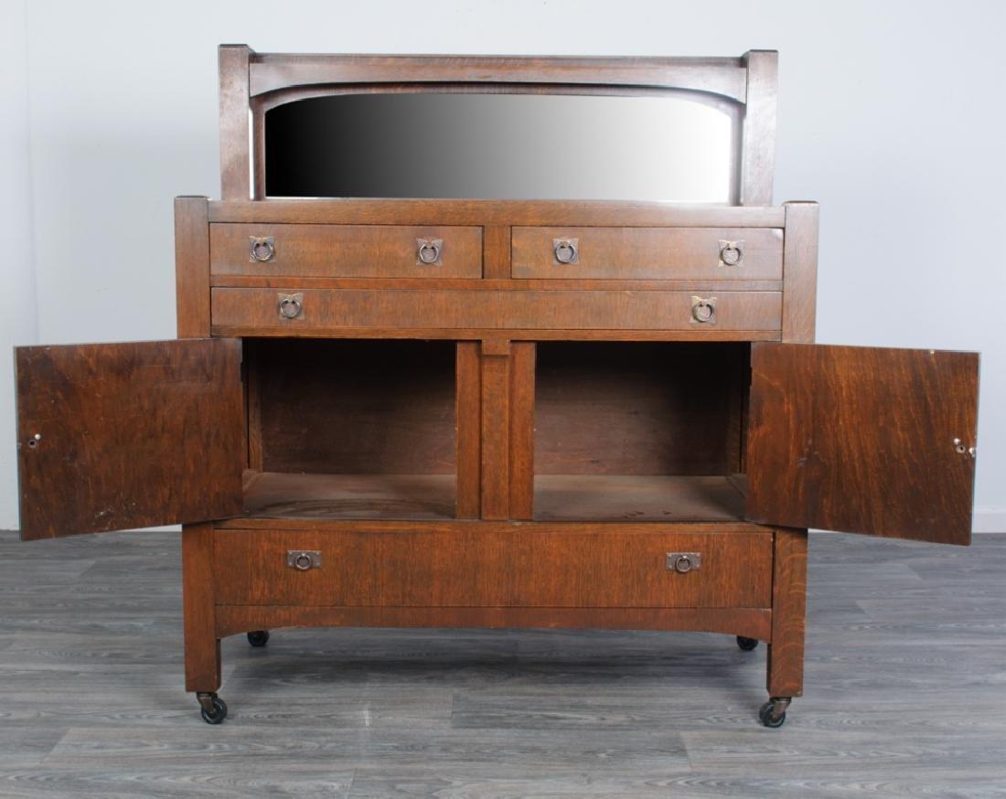 American Arts & Crafts Oak Sideboard - 6