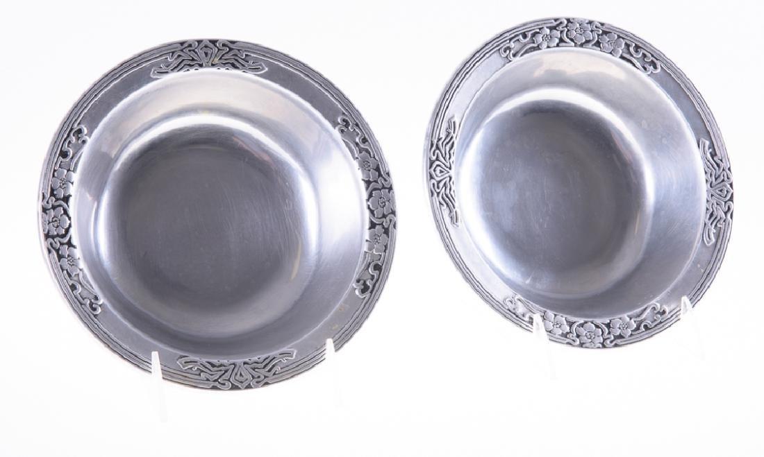 Wilton Pewter Fleurs Nouveau Bowls