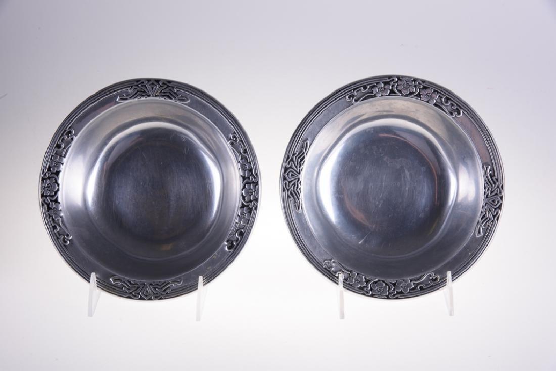Wilton Pewter Fleurs Nouveau Bowls - 2