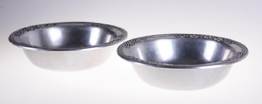 Wilton Pewter Fleurs Nouveau Bowls - 3