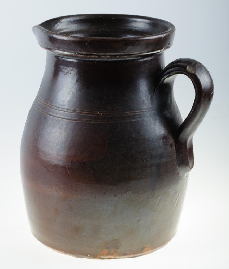 S.L. Pewtress Stoneware Pitcher