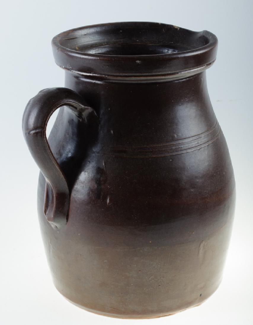 S.L. Pewtress Stoneware Pitcher - 4