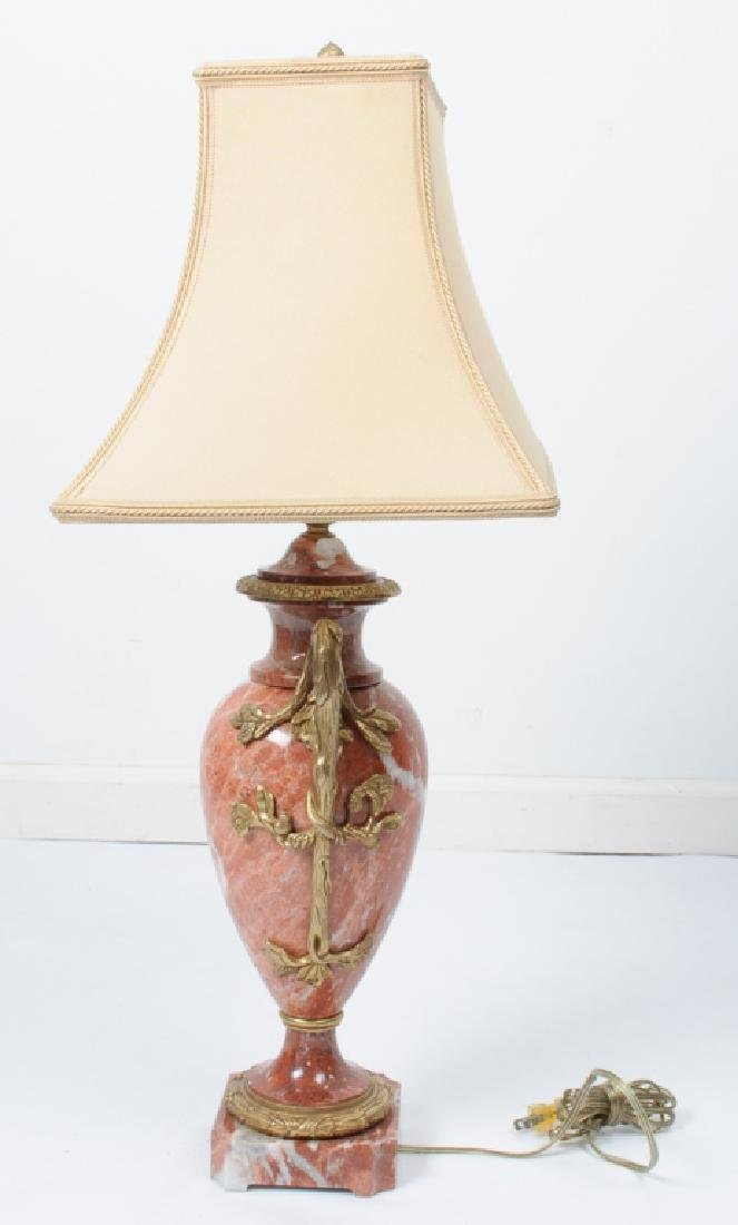 Porphyry or Red Marble Table Lamp - 2