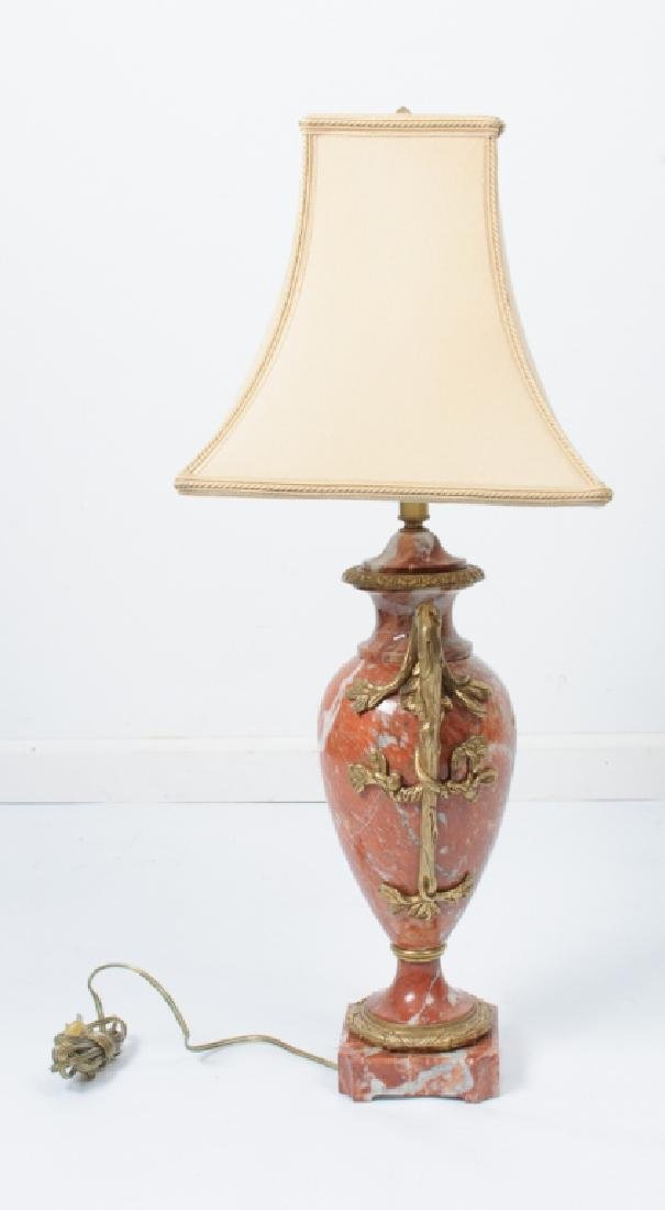 Porphyry or Red Marble Table Lamp - 4