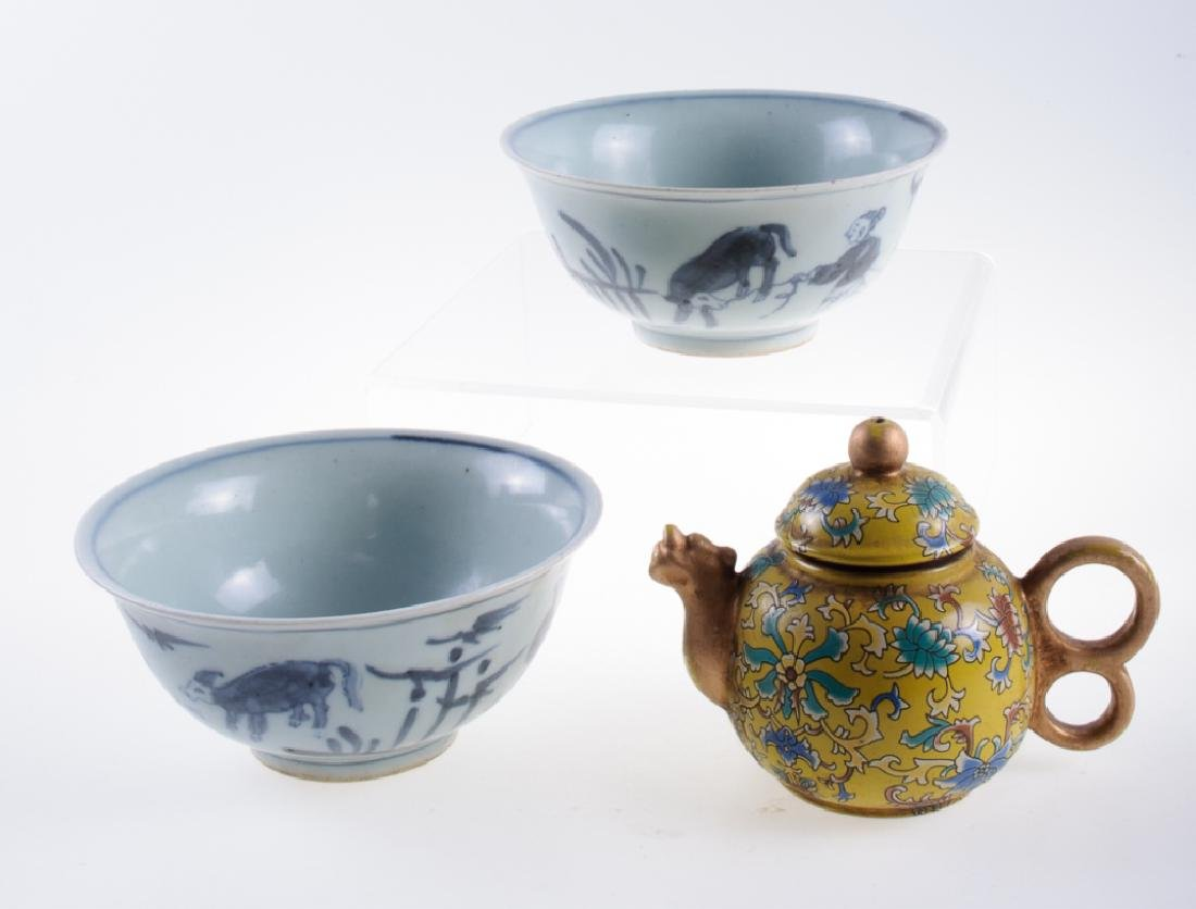 Chinese Porcelain Grouping
