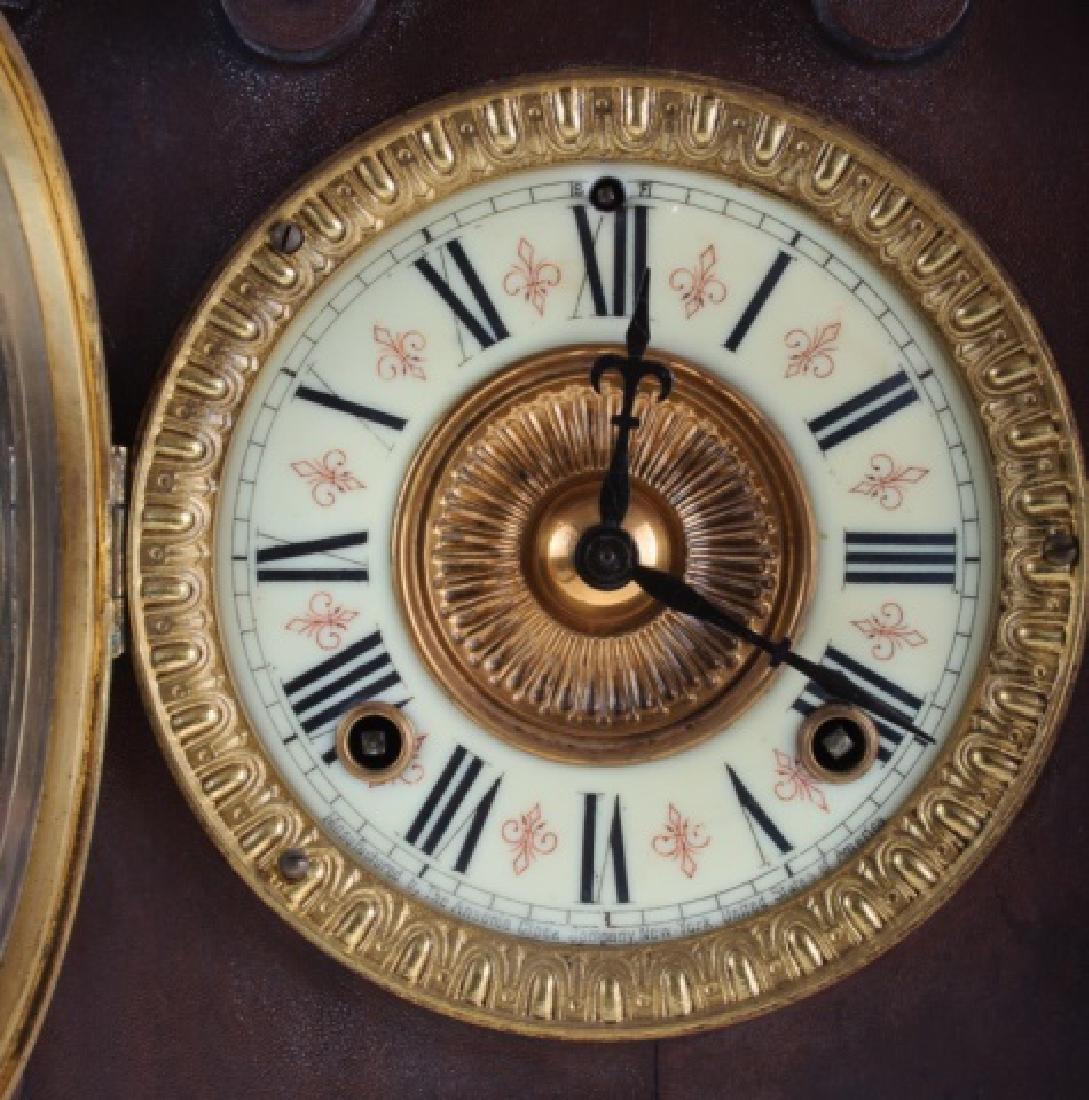 Ansonia Eight Day Norwich Strike Mantle Clock - 2