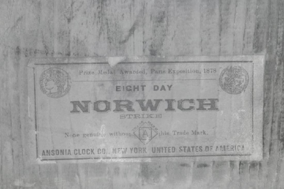 Ansonia Eight Day Norwich Strike Mantle Clock - 6