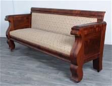 Mahogany American Empire Sofa