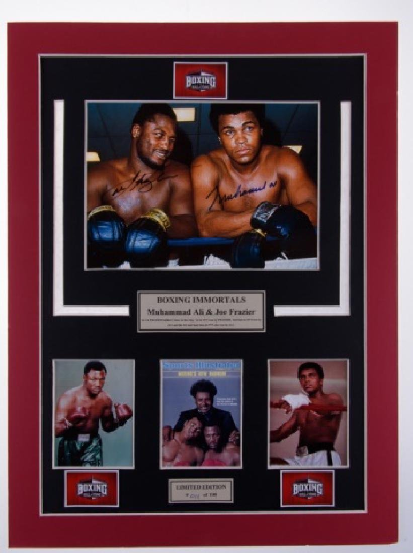Ali & Frazier Double Signed Photograph #011/100 - 2