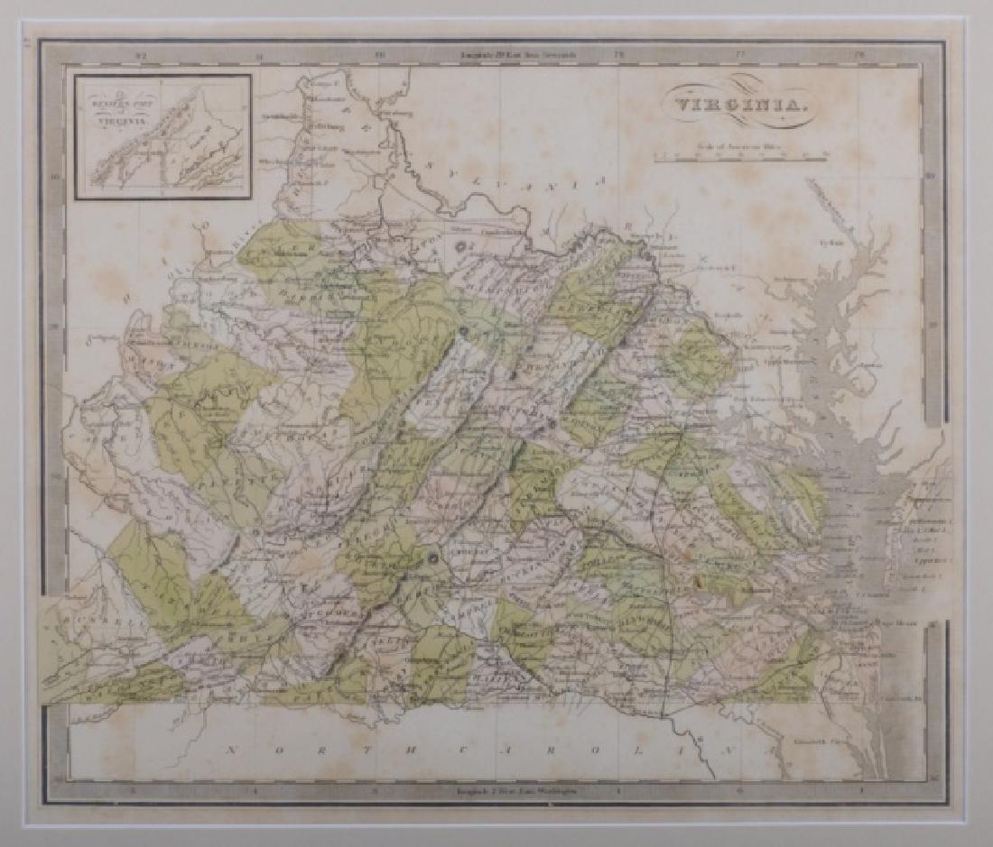 Map of Virginia, 1842 - 2